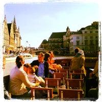 Photo taken at De Bootjes van Gent   Rederij Dewaele by Rutger D. on 9/1/2012