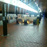 Photo taken at Braddock Road Metro Station by Matthew S. on 9/9/2012