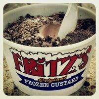 Photo taken at Fritz's Frozen Custard by kat a. on 8/9/2012