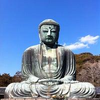 Photo taken at Great Buddha of Kamakura by ykr_gnn on 2/12/2012