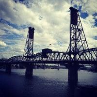 Photo taken at Hawthorne Bridge by Jose S. on 8/28/2012