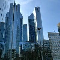 Photo taken at Société Générale Twin Towers by MikaelDorian on 4/17/2011