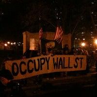 Photo taken at #OCCUPYWALLSTREET by VideoDanceTV on 11/18/2011