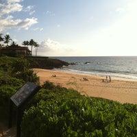Photo taken at Wailea Beach by Tina S. on 5/18/2012