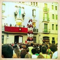 Photo taken at Plaça de la Vila de Gràcia by Petri H. on 8/20/2011