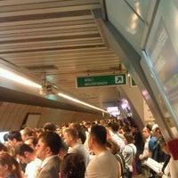 Photo taken at Şişli - Mecidiyeköy Metro İstasyonu by Tolga Kağan B. on 6/7/2012