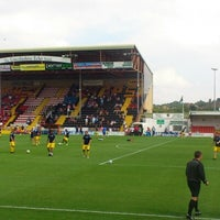 Photo taken at Sincil Bank Stadium-Lincoln City Football Club by Andrew F. on 8/11/2012