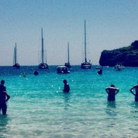 Photo taken at Cala Turqueta by Sebastián R. on 8/28/2012