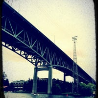 Photo taken at Ship Canal Bridge by Tim G. on 7/16/2012