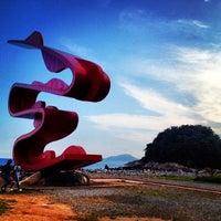 Photo taken at Praia do José Menino by Rodrigo C. on 2/19/2012