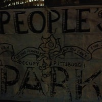 Photo taken at #OccupyPittsburgh by Stephan Y. on 1/10/2012