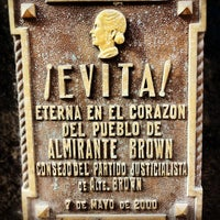 Photo taken at Mausoleo de Eva Perón by Mark S. on 4/11/2012