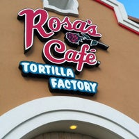 Photo taken at Rosa's Cafe Tortilla Factory by Stefanie M. on 8/28/2012