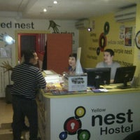 Photo taken at Feetup Yellow Nest Hostel Barcelona by Andre d. on 1/28/2012