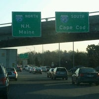 Photo taken at I-90 Weston Toll Plaza from / to I-95 (Exit 14) by Dan C. on 2/9/2012