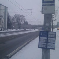 Photo taken at Skácelova (tram, bus) by Matthias S. on 2/15/2012