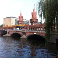 Photo taken at Oberbaumbrücke by Kay L. on 8/20/2012