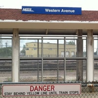 Photo taken at Metra - Western Avenue by Mary Ann K. on 8/14/2011