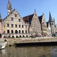 Photo taken at De Bootjes van Gent   Rederij Dewaele by Maxim N. on 7/25/2012