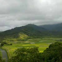 Photo taken at Hanalei Valley Lookout by Mide M. on 7/18/2012