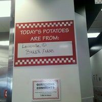 Photo taken at Five Guys Burgers & Fries by Steve M. on 1/13/2011