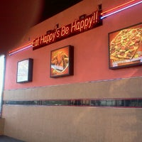 Photo taken at Happy's Pizza by Brant H. on 10/5/2011