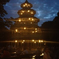 Photo taken at Biergarten am Chinesischen Turm by Petra O. on 6/21/2012