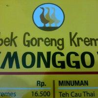 Photo taken at Bebek Goreng Kremes Monggo by anastacia r. on 10/7/2011