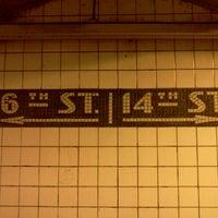 Photo taken at MTA Subway - 14th St (F/L/M) by Kimble S. on 7/14/2012