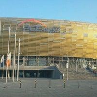 Photo taken at Stadion Energa Gdańsk by Boudewijn C. on 11/7/2011
