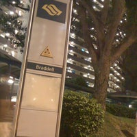 Photo taken at Braddell MRT Station (NS18) by Steven T. on 4/7/2011