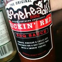 Photo taken at Boneheads BBQ by Dave K. on 5/6/2012