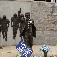 Photo taken at Joe Paterno Statue by Kevin N. on 4/26/2012