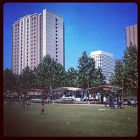 Photo taken at Discovery Green by Sandra F. on 4/21/2012