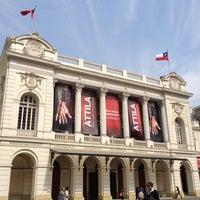 Photo taken at Teatro Municipal de Santiago by Andres S. on 9/7/2012