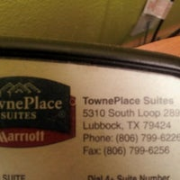 Photo taken at TownePlace Suites Lubbock by Julie M. on 6/8/2012