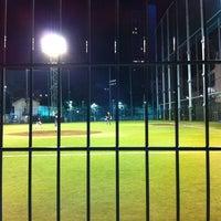 Photo taken at 青山運動場 野球場 by Yuya K. on 6/18/2012