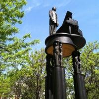 Photo taken at Duke Ellington Memorial by Robert Graham by John P. on 4/21/2012