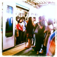 Photo taken at Yellow Line - Araneta Center-Cubao Station by ora b. on 8/16/2012