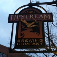 Photo taken at Upstream Brewing Company by Sean K. on 2/16/2012