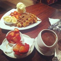 Photo taken at Max Brenner Chocolate Bar by Camille C. on 6/13/2012