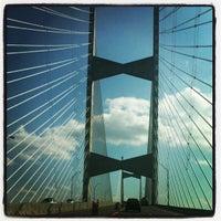 Photo taken at Napoleon Bonaparte Broward (Dames Point) Bridge by Aeryck on 11/20/2011