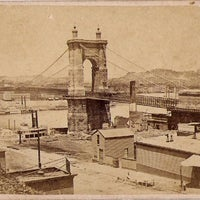 Photo taken at John A. Roebling Suspension Bridge by K12 Inc on 8/9/2011