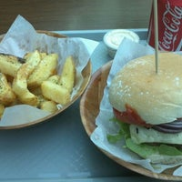 Photo taken at Byrnes Handcrafted Burgers by Julian W. on 10/5/2011