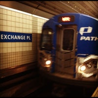 Photo taken at Exchange Place PATH Station by Christine Y. on 4/17/2012