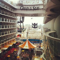 Photo taken at Royal Caribbean Oasis of the Seas by Nathan W. on 8/11/2012