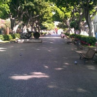Photo taken at Ramblas de Santa Cruz by Pablo M. on 1/14/2012