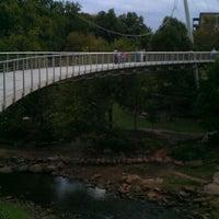 Photo taken at Trey Pennington Candlelight Memorial At Liberty Bridge @ Falls Park by RichardB on 9/7/2011