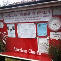 Photo taken at American Church in Berlin by Jeroen on 2/17/2012