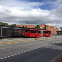 Photo taken at TransMilenio: Puentelargo by Juan C E. on 4/1/2012